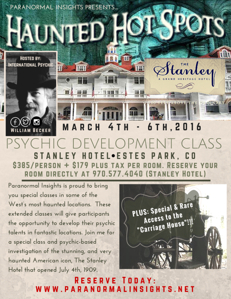 Stanley Hotel Event March 2016